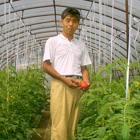 トマト生産者の安達さん